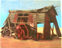 Winch shed painting