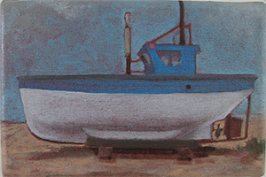 Small painting of fishing boat Arlita
