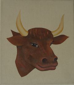 Oil Painting bovine portrait