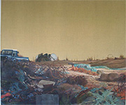 Dungeness defender landscape large oil painting