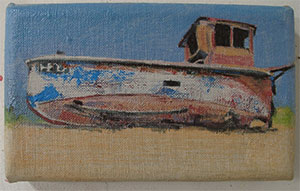 Beached boat pocket paintings