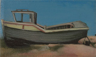 1950's style dungeness boat