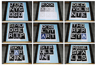 FONT multiple print compounds Dungeness beach
