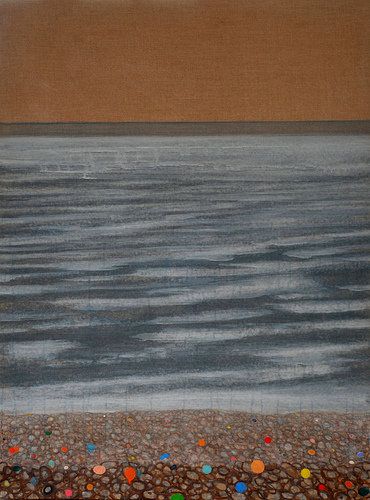 Large Dungeness Oil Beach Painting on linen