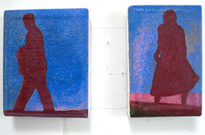 Little couple  preparatory pocket paintings Dungeness