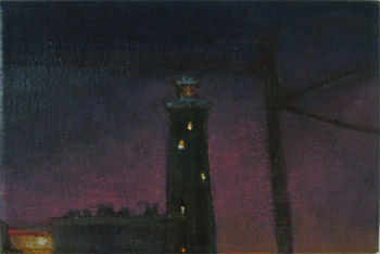 oil painting old lighthouse dungeness