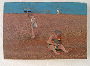 Bathers on Dungeness beach