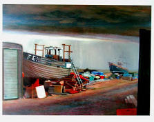 Dungeness art, Paddy Hamilton, Dungeness beach Studio 2, Molly Rose, print