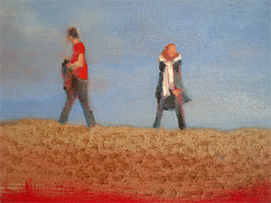 Cadmium red size linen stretchers paintings Dungeness