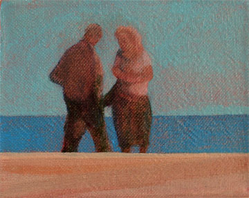 pocket painting intimate beach moment