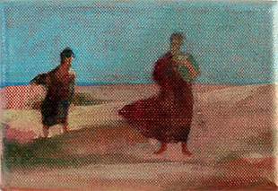 Tosca on the Beach - a Pocket Painting