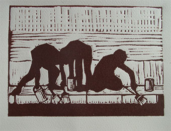 Lino cut on quality paper