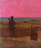 Roots Manuva on the rise Dungeness small oil painting