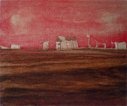 Medium sized oil paintings on linen in progress Dungeness beach
