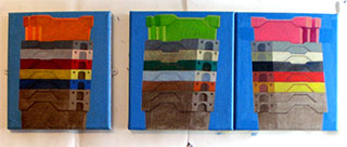 abstracted paintings Dungeness fish boxes