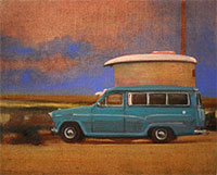 Austin A60 camper painting stealth campers
