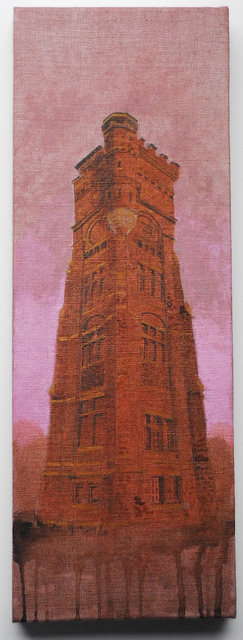 Tower oil painting Greatstone Kent U.K.