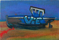 Dungeness beached lifeboat Boat painting