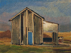 small shed painting