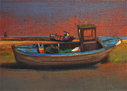 Dungeness abandoned beautiful boats painting